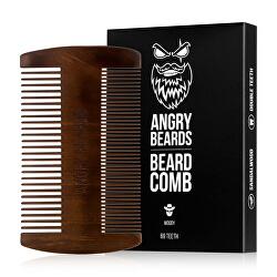 Drevený hrebeň na fúzy Woody (Beard Comb)