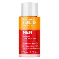 2-fázový olej na bradu pro muže MEN System Energy Boost (2-Phase Beard Oil) 30 ml
