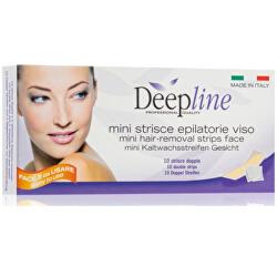 Voskové epilační pásky na obličej Deepline (Hair-Removing Strips) 10 ks