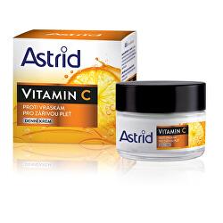 Denný krém proti vráskam pre žiarivú pleť Vitamín C 50 ml