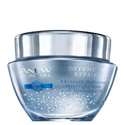 Nočná hydratačná pleťová maska s komplexom Hyaluronic 3X Anew Clinical (Defend & Repair Overnight Mask) 50 ml