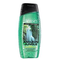 Posilující sprchový gel na vlasy a tělo pro muže (Senses Amazon Jungle)