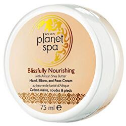 Vyživující krém na ruce, nohy a lokty s bambuckým máslem Planet Spa (Hand, Elbow and Foot Cream Blissfully Nourishing with African Shea Butter) 75 ml