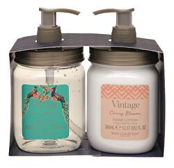 Set cadou pentru îngrijirea mâinilor Vintage Cherry Blossom