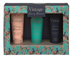 Set cadou pentru îngrijirea mâinilor Vintage Cherry Blossom Trio of Treats