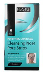 Čisticí pásky na nos s aktivním uhlím Charcoal (Cleansing Nose Pore Strips) 6 ks
