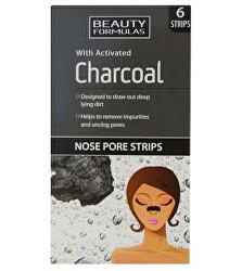 Čisticí pásky na nos s aktivním uhlím Charcoal (Nose Pore Strips) 6 ks