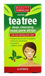 Čisticí pásky na nos Tea Tree (Deep Cleansing Nose Pore Stips) 6 ks