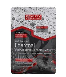 Čisticí péče o pleť s aktivním uhlím 2v1 (Charcoal Deep Absorbing Facial Mask) 13 g