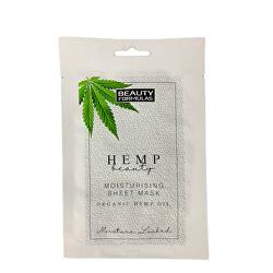 Hydratační pleťová maska s konopím Hemp Beauty (Moisturising Sheet Mask Organic Hemp Oil) 1 ks