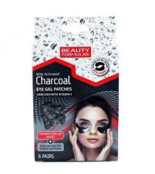 Polštářky pod oči s aktivním uhlím Charcoal (Eye Gel Patches) 6 párů