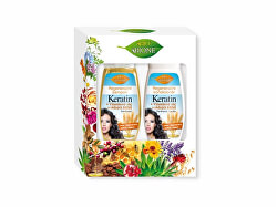 Dárková sada vlasové péče Keratin + Klíčkový olej