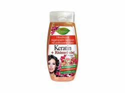 Șampon regenerant profund pentru părul deteriorat Keratin + Ricinový olej260 ml