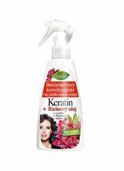 Regenerační bezoplachový kondicionér na poškozené vlasy Keratin + Ricinový olej 260 ml