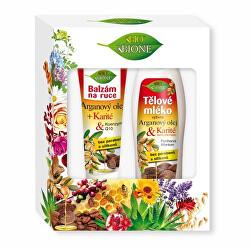 Set cadou de îngrijire a corpului Arganový olej + Karité