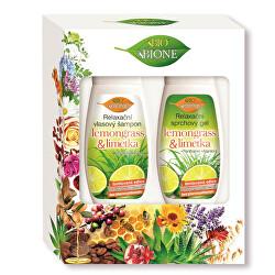 Set cadou pentru îngrijirea părului Lemongrass + Limeta