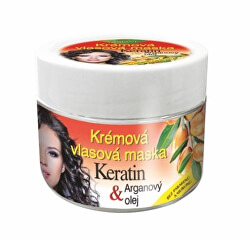 Krémová vlasová maska Keratin + Arganový olej 260 ml