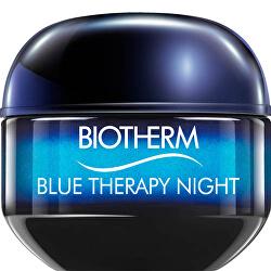 Nočný protivráskový krém pre všetky typy pleti ( Blue Therapy Night) 50 ml