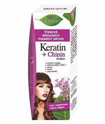 Vlasové stimulační masážní sérum Keratin + Chinin 215 ml