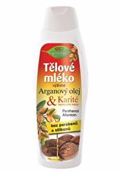 Výživné tělové mléko Arganový olej + Karité 500 ml