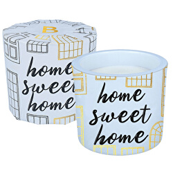 Illatgyertya üvegben Home Sweet Home