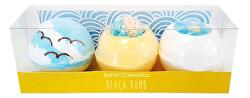 Kosmetická sada koupelové Plážové bomby 3 x 160 g