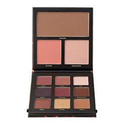 Paletka očních stínů s rozjasňovačem, bronzerem a tvářenkou Velvet (MultiPurpose Palette)