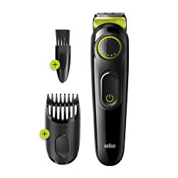 Zastřihovač vousů a vlasů BT3221 BLK/GRN