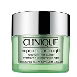 Nočný hydratačný krém pre zmiešanú až mastnú pleť Superdefense (Night Recovery Moisturizer Combination To Oily Skin) 50 ml