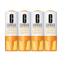 Rozjasňujúce sérum s vitamínom C proti starnutiu pleti Fresh Pressed (Daily Booster With Pure Vitamin C 10%) 4 x 8,5 ml