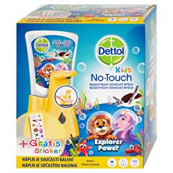 Bezdotykový dávkovač mýdla pro děti Kids Le Zoo + tekuté mýdlo Dobrodruh 250 ml