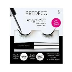 Umělé řasy s magnetickými očními linkami Magnetic Eyeliner & Lashes Kit