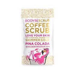 Kávový peeling s třpytivým efektem Pina Colada (Coffee Scrub Shimmer Gold)