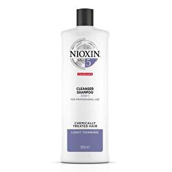 Čisticí šampon pro barvené lehce řídnoucí vlasy System 5 (Shampoo Cleanser System 5)