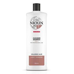 Čisticí šampon pro jemné barvené mírně řídnoucí vlasy System 3 (Shampoo Cleanser System 3)