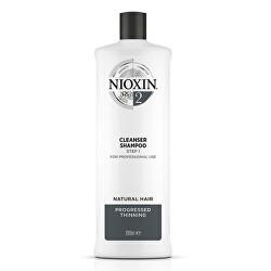 Čisticí šampon pro jemné výrazně řídnoucí přírodní vlasy System 2 (Shampoo Cleanser System 2)
