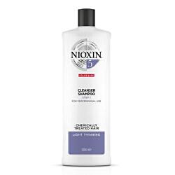 Čisticí šampon pro normální až silné přírodní i barvené mírně řídnoucí vlasy System 5 (Shampoo Cleanser System 5)