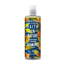 Faith in Nature prírodné sprchový gél Grapefruit & Pomaranč