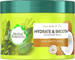 Hydratační a vyhlazující maska pro suché vlasy Coconut milk (Intenstive Mask)