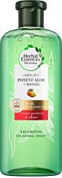 Šampon pro suché a barvené vlasy Potent Aloe + Mango (Color Protect & Shine Shampoo)