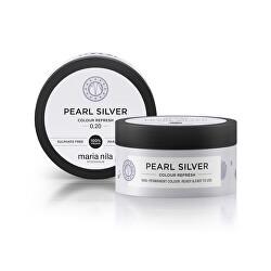 Jemná vyživující maska bez permanentních barevných pigmentů Pearl Silver (Colour Refresh Mask)
