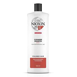 Čisticí šampon pro jemné barvené výrazně řídnoucí vlasy System 4 (Shampoo Cleanser System 4)