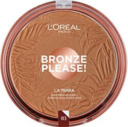 Bronzový pudr na obličej a tělo La Terra (Bronzer) 18 g