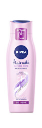 Pečující šampon s mléčnými a hedvábnými proteiny na unavené vlasy bez lesku Hairmilk Shine (Care Shampoo)