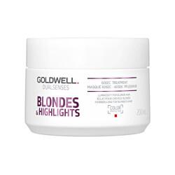 Regenerační maska neutralizující žluté tóny vlasů Dualsenses Blondes & Highlights (60 Sec Treatment)