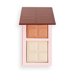 Arcpirosító paletta Chocolate Contour (Contour Palette) 9 g