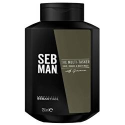 Šampon na vlasy, vousy a tělo SEB MAN The Multitasker (Hair, Beard & Body Wash)