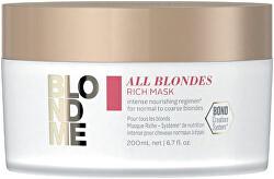 Vyživující maska pro normální a silné blond vlasy All Blondes (Rich Mask)