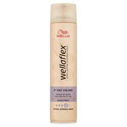 Lak s extra silnou fixáciou pre zväčšenie objemu Wella flex 2nd Day Volume ( Hair spray)