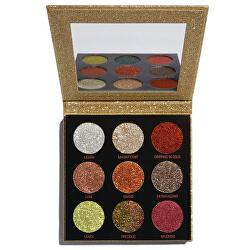 Zářící paletky třpytek (Pressed Glitter Palette) 9 x 1,2 g